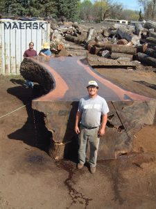 2. Kevin Taylor, an avid user of Granberg Alaskan Mills, used the Alaskan C2 Mill to slab up this black walnut beauty.