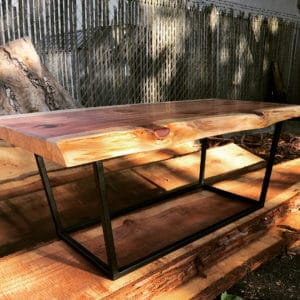 A table handcrafted by Deadwood Designs